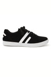 STRIPE STREET SNEAKERS-BLACK AND WHITE