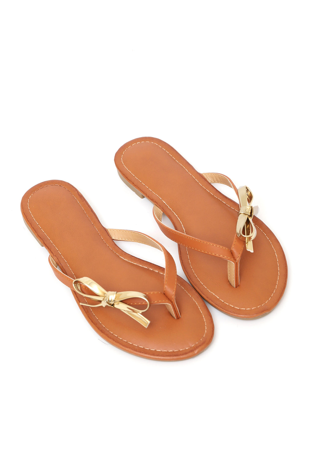 THONG SLIPPERS-CAMEL