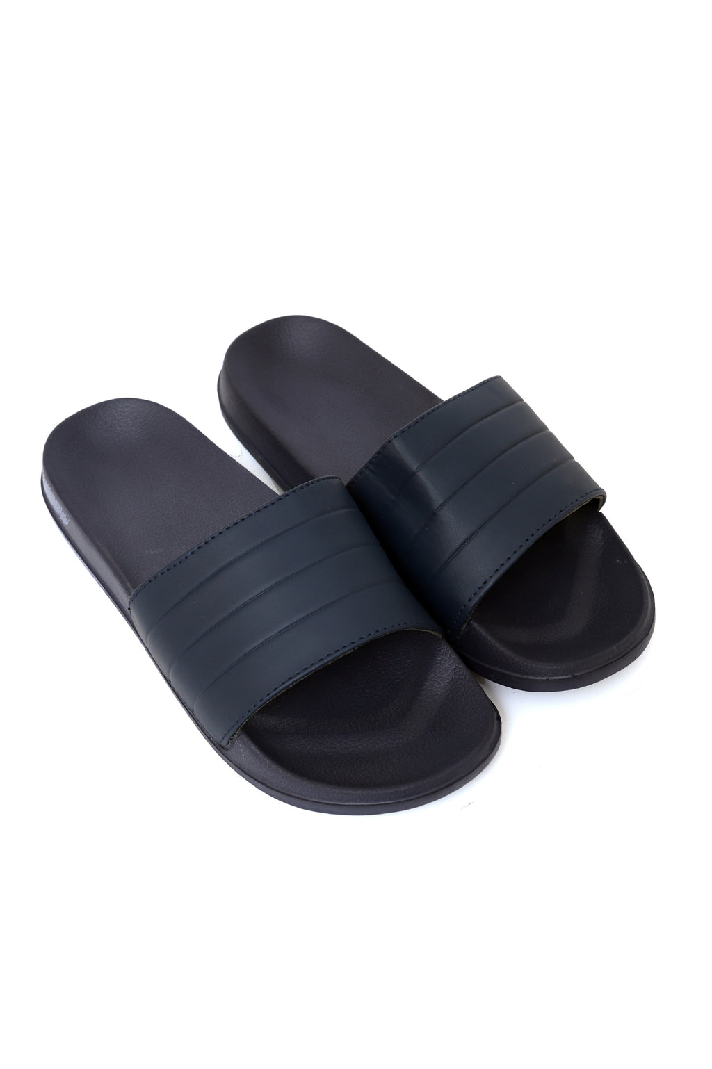 STRIPED SLIDES-NAVY