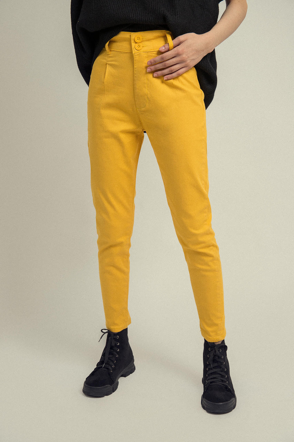 BASIC PANTS-YELLOW