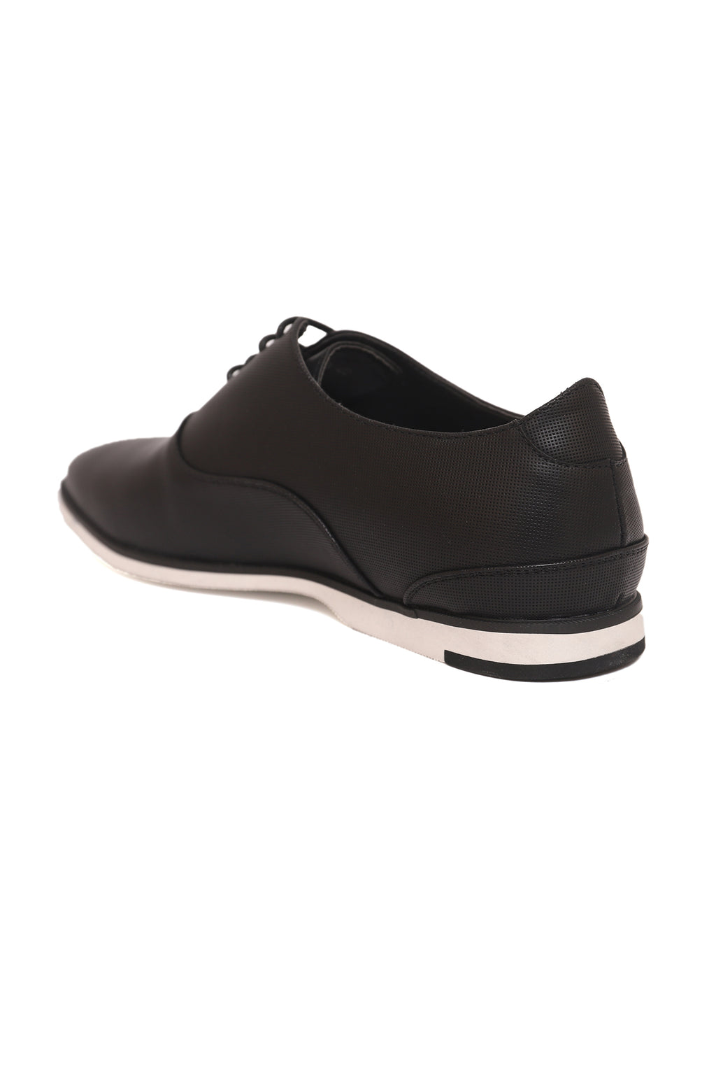 PERFORATED LACE UPS-BLACK