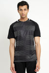 GRADIENT T-SHIRT-BLACK/WHITE