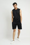 ATHLETIC VEST-BLACK/WHITE