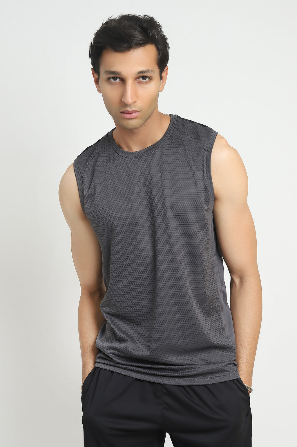 ATHLETIC VEST-GREY/BLACK