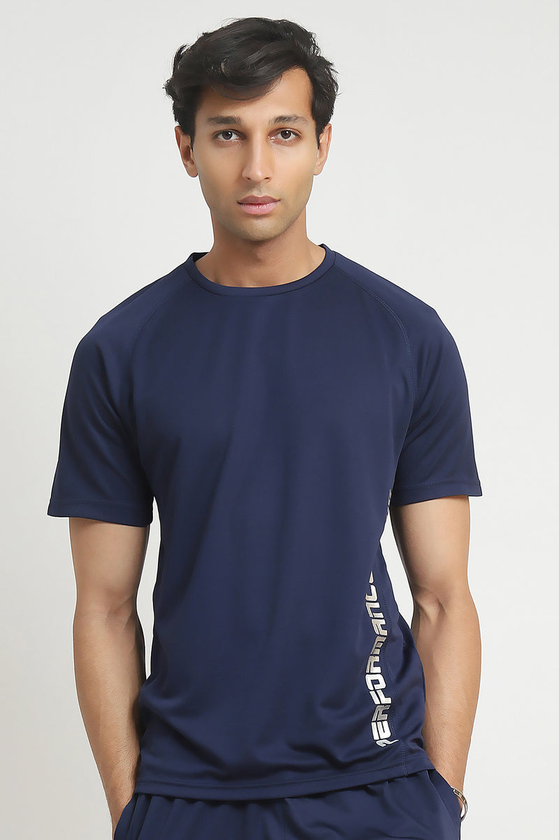 PERFORMANCE T-SHIRT-NAVY