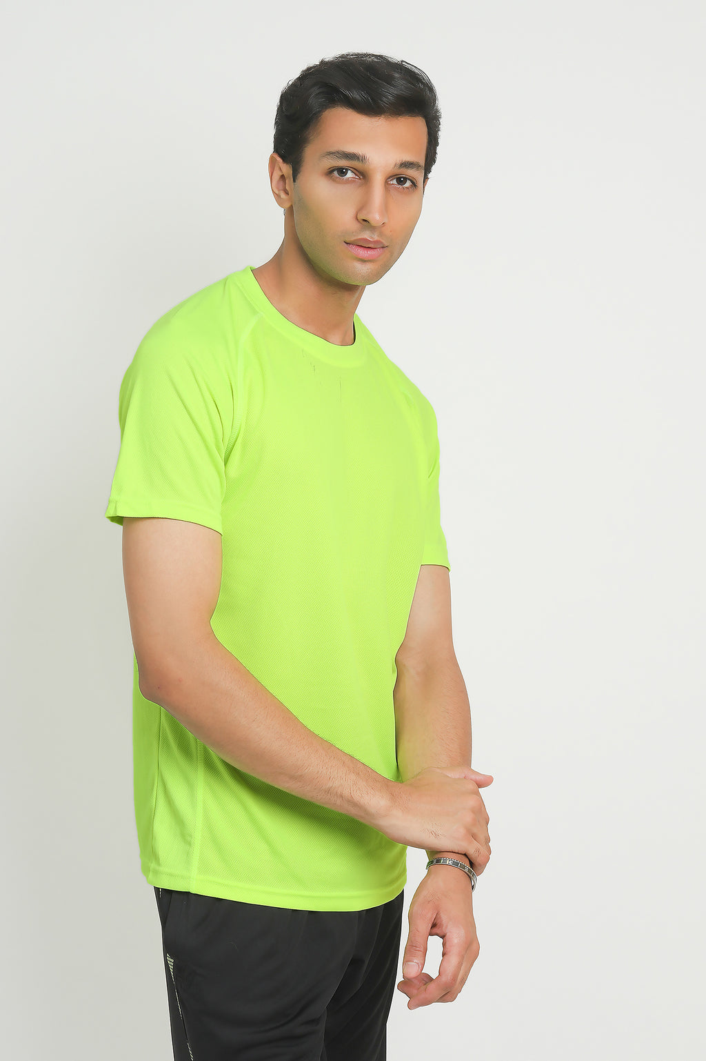 RUNNING TEE-YELLOW