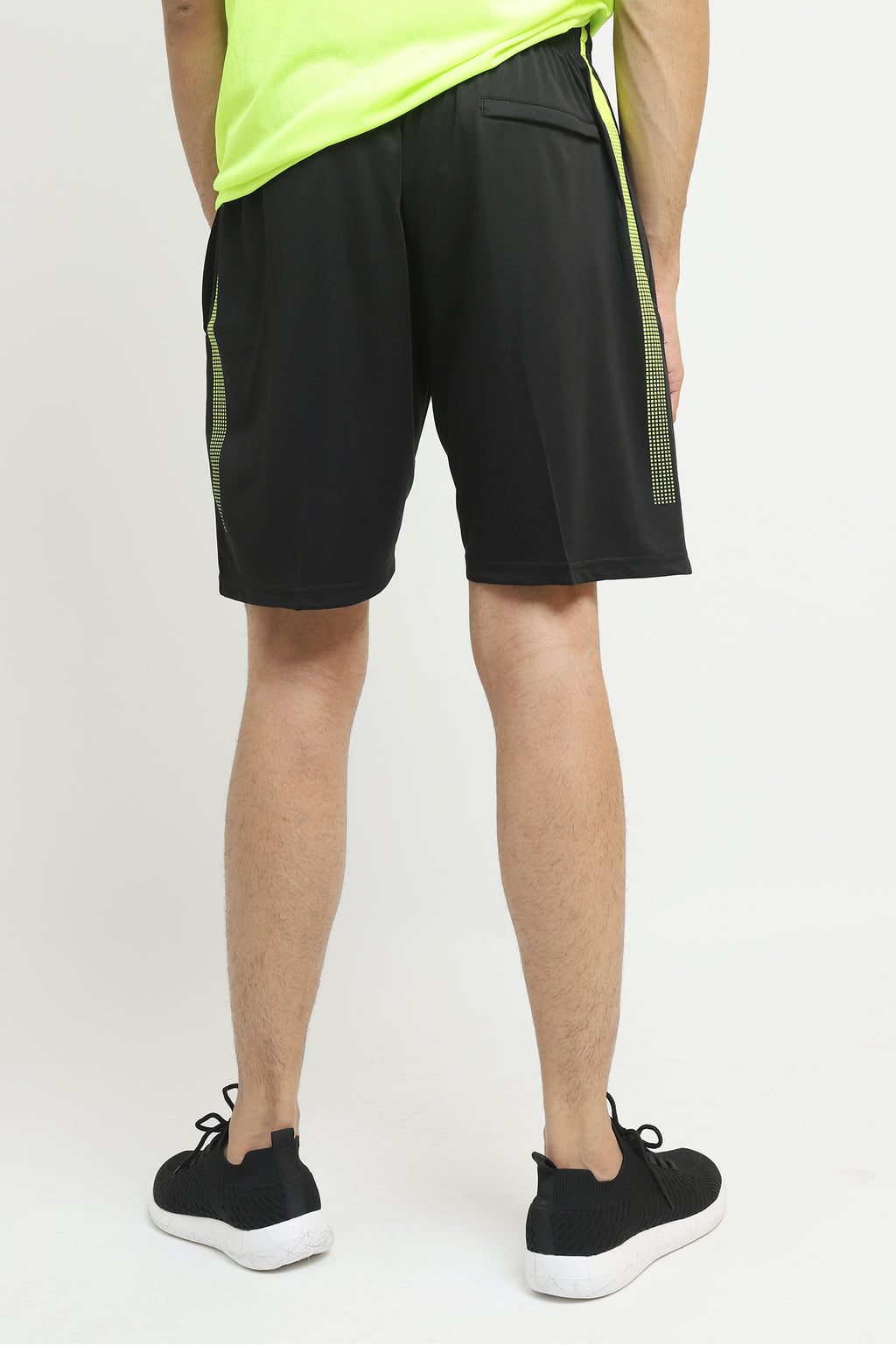 ACTIVE MESH SHORTS  -BLACK/YELLOW