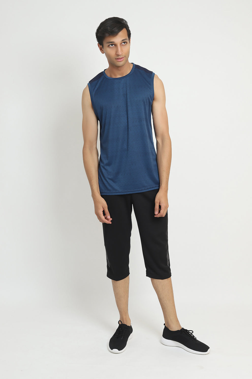 SLEEVELESS TRAINING TEE -NAVY
