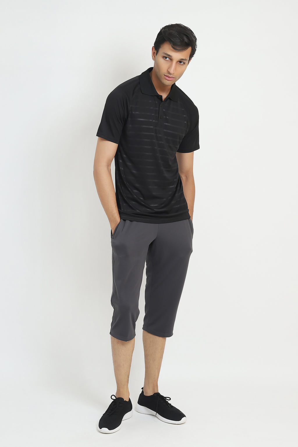 ACTIVEWEAR BERMUDA -GREY/BLACK