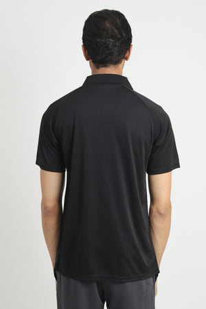 NEOPRENE STRIPE POLO-BLACK