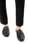 PERFORATED LOAFERS-BLACK