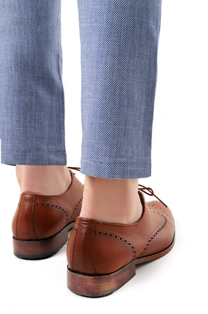 BROGUE SHOES-TAN