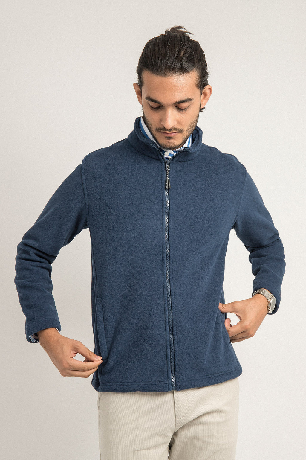 FLEECE JACKET-NAVY