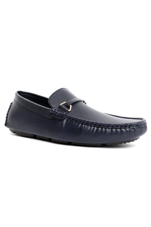 EMBOSSED LOAFERS-NAVY