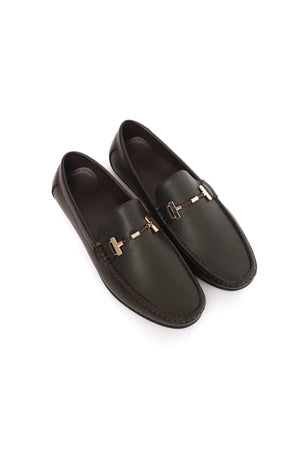 TEXTURED LOAFERS-COFFEE