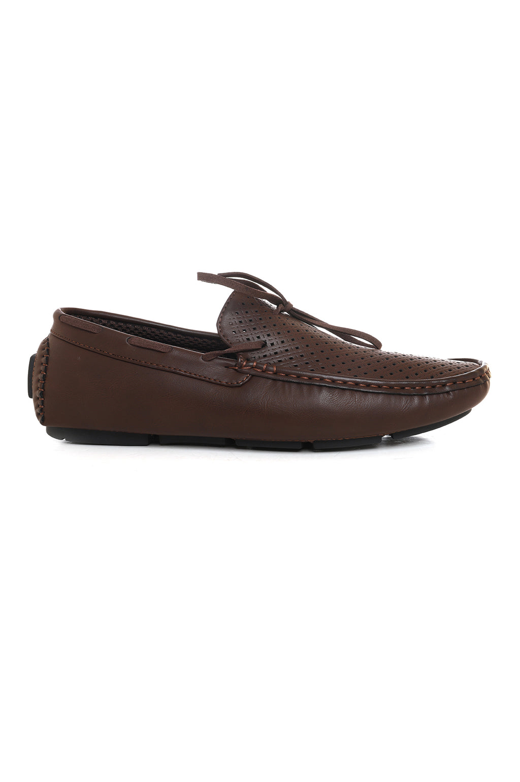 MESH PERFORATED LOAFERS-COFFEE