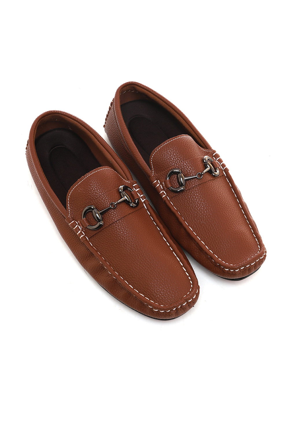 CROSS GRAIN LOAFERS-BROWN