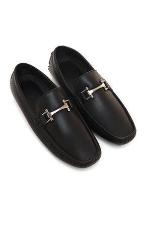 BUCKLED LOAFERS -BLACK