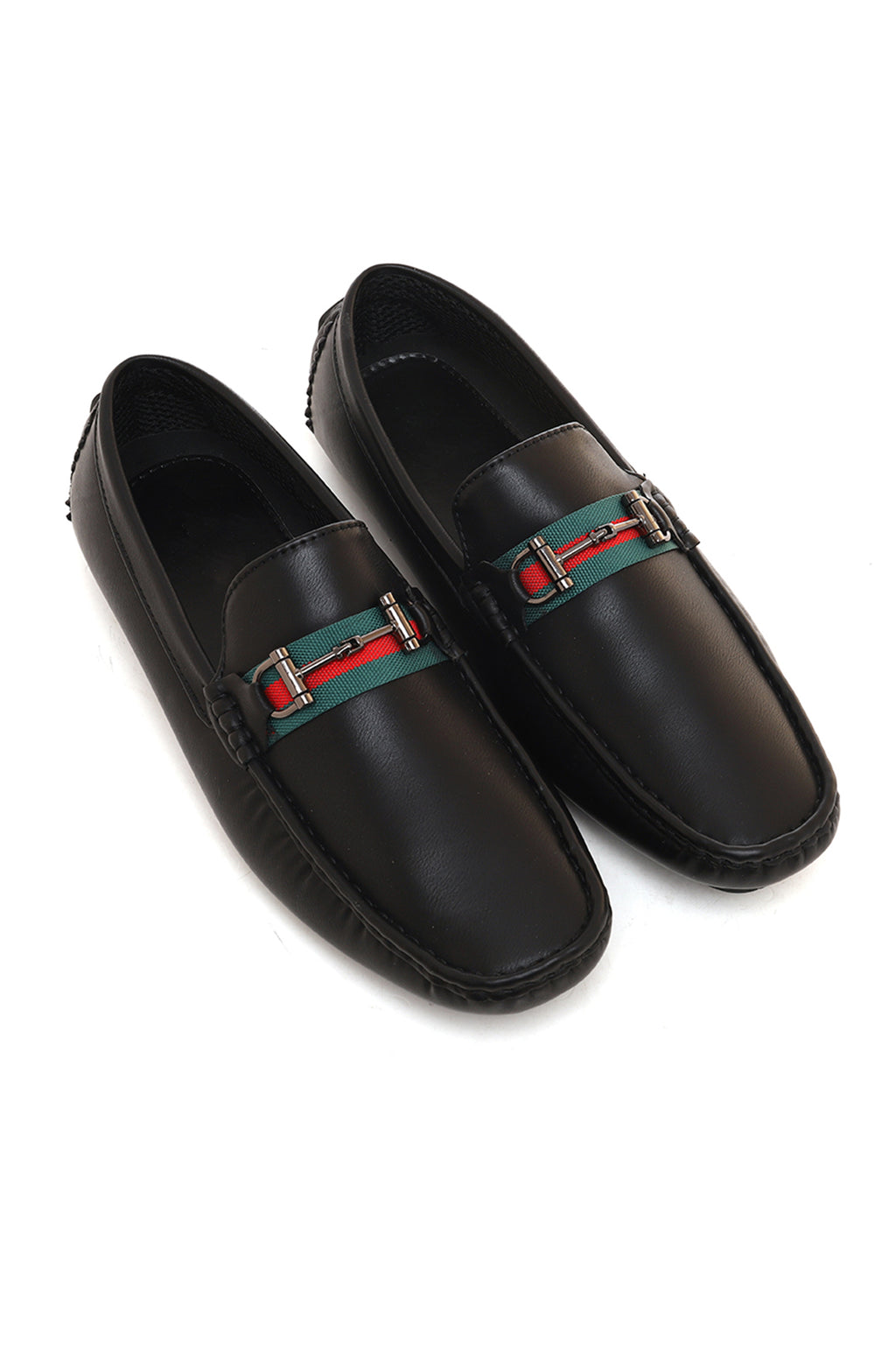 STRIPED LOAFERS-BLACK