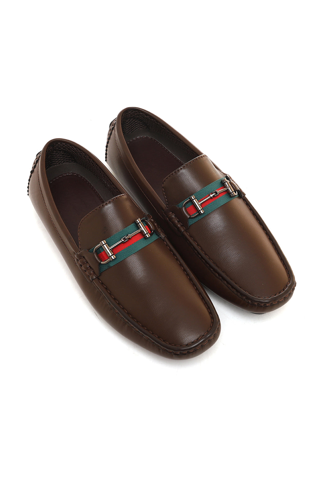 STRIPED LOAFERS-COFFEE
