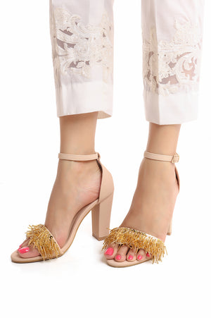MAJESTIC SANDALS-BEIGE/GOLD