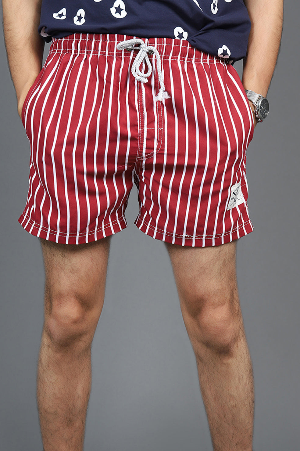 NAUTICAL SHORTS-RED