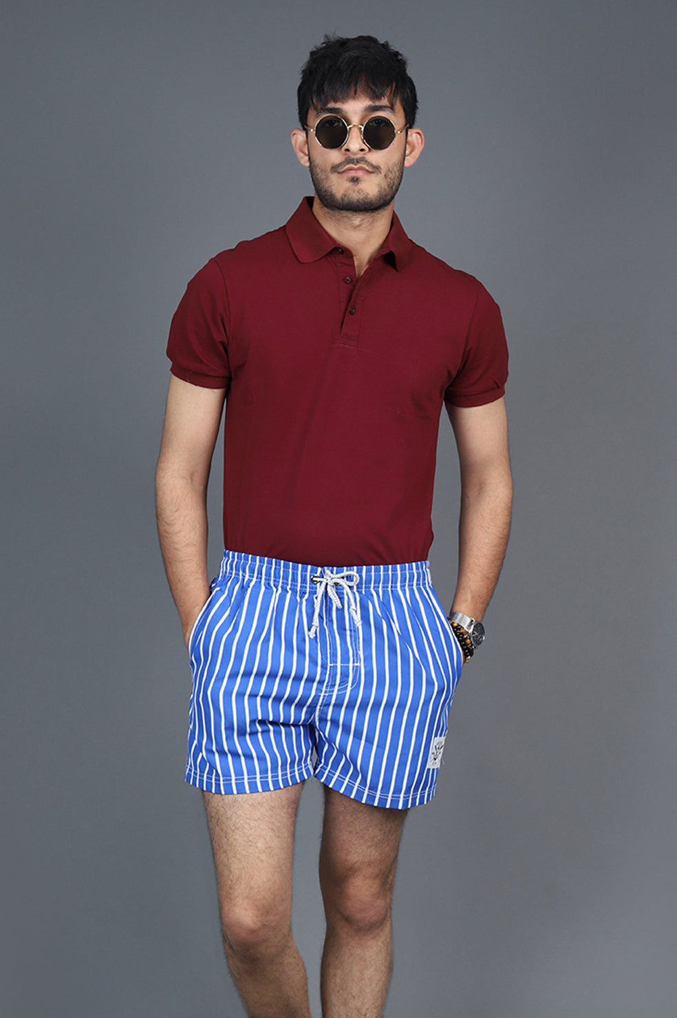 NAUTICAL SHORTS-BLUE