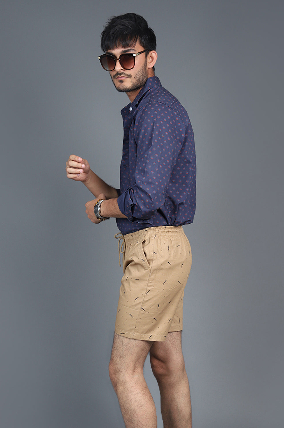 BEACH SHORTS-KHAKI