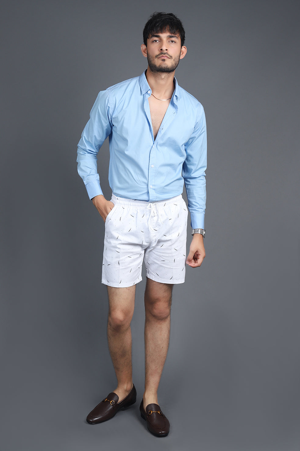 BEACH SHORTS-WHITE