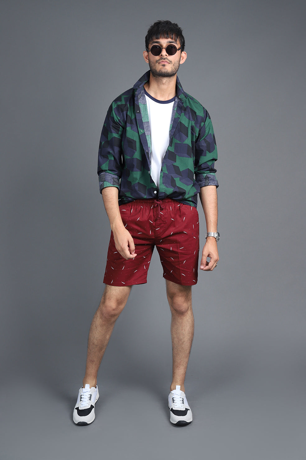 BEACH SHORTS-MAROON