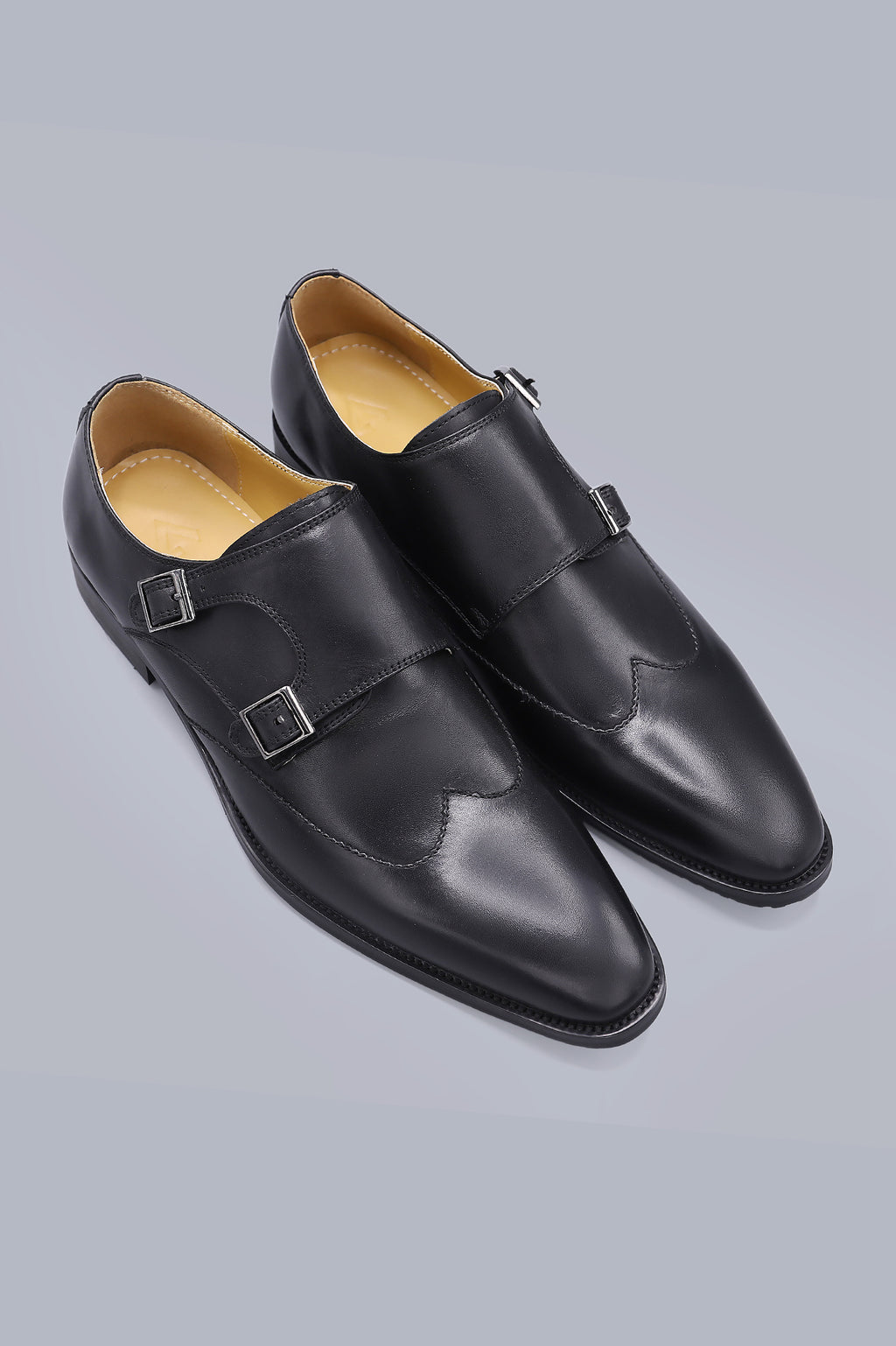 DOUBLE MONK SHOE-BLACK