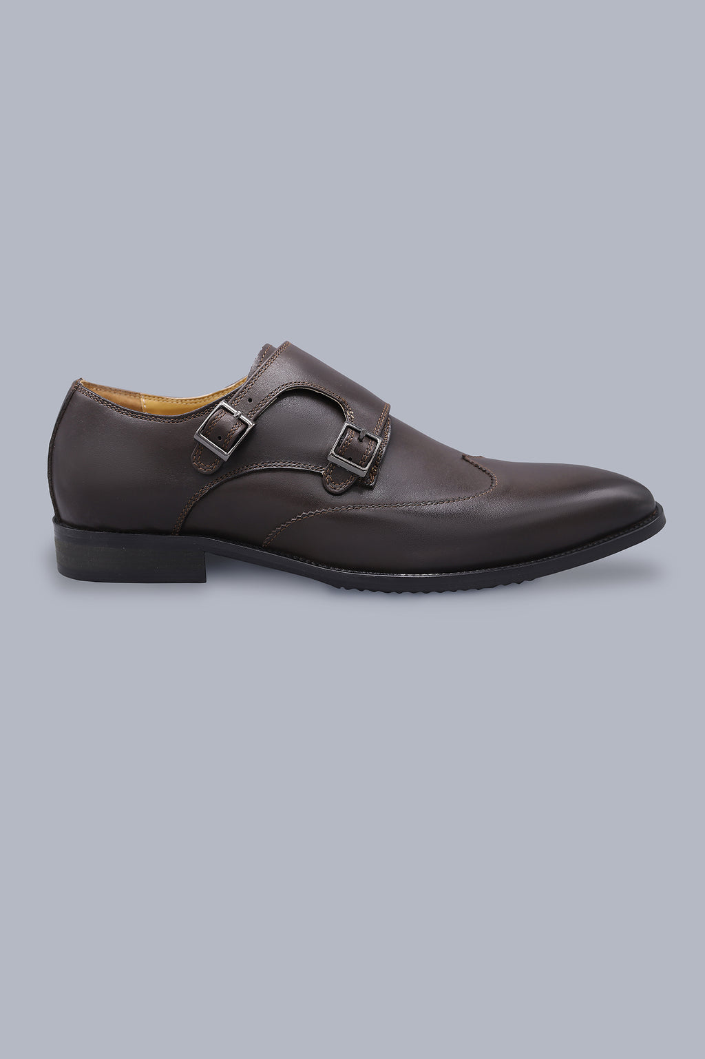 DOUBLE MONK SHOE-COFFEE
