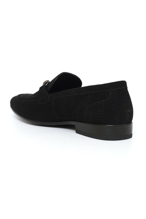 DUAL TEXTURED LOAFERS-BLACK