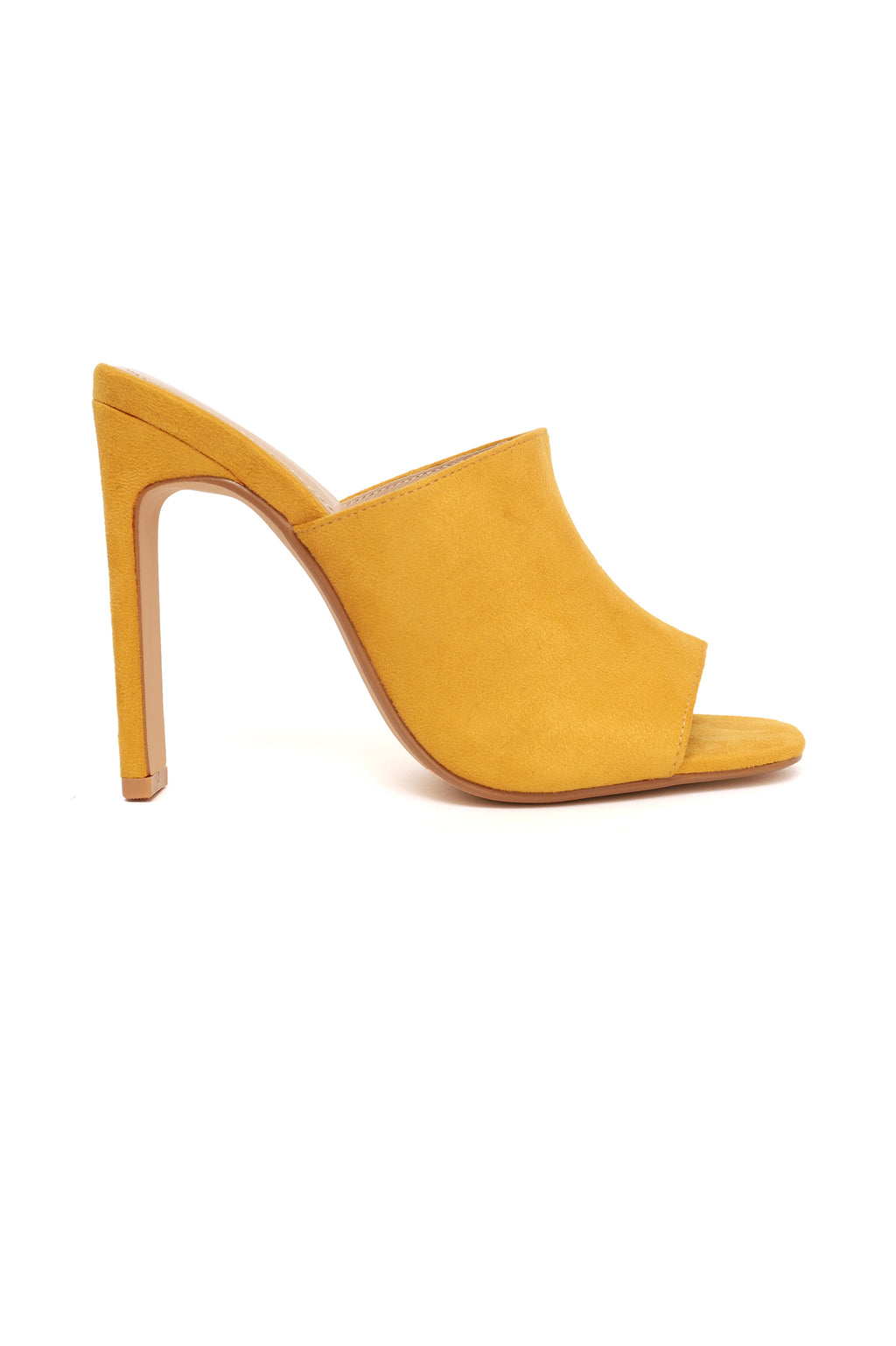 SUEDE MULES-YELLOW