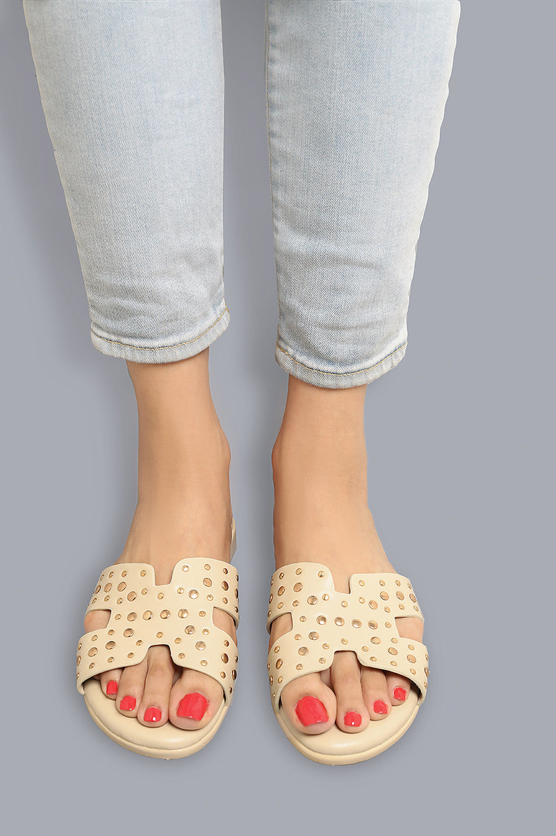 SCULPT SANDALS-BEIGE