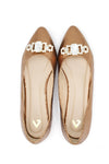 PATENT LEATHER PUMPS-BRONZE