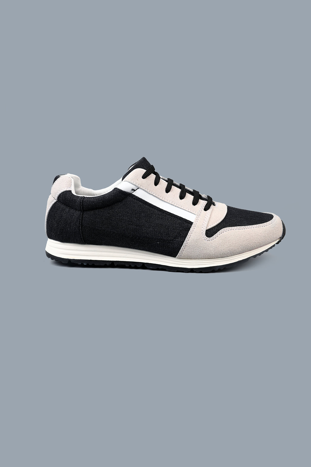 DENIM SNEAKERS-BLACK