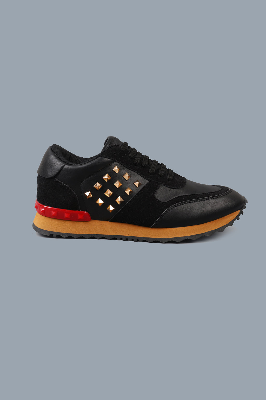 STUDDED TRAINERS-BLACK