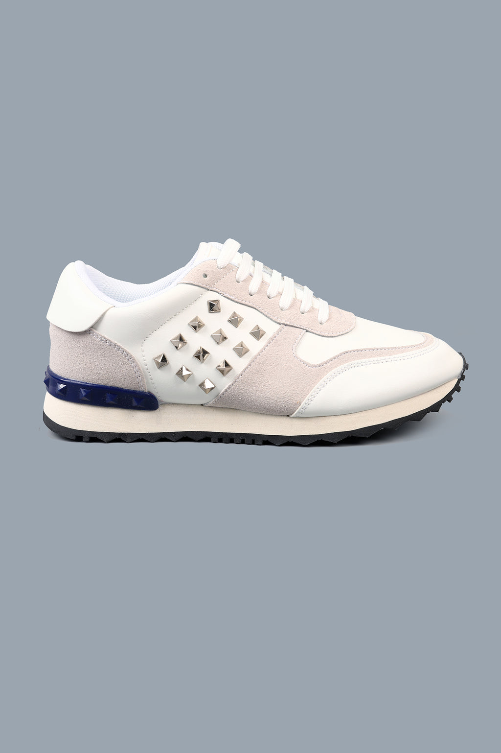 STUDDED TRAINERS-WHITE
