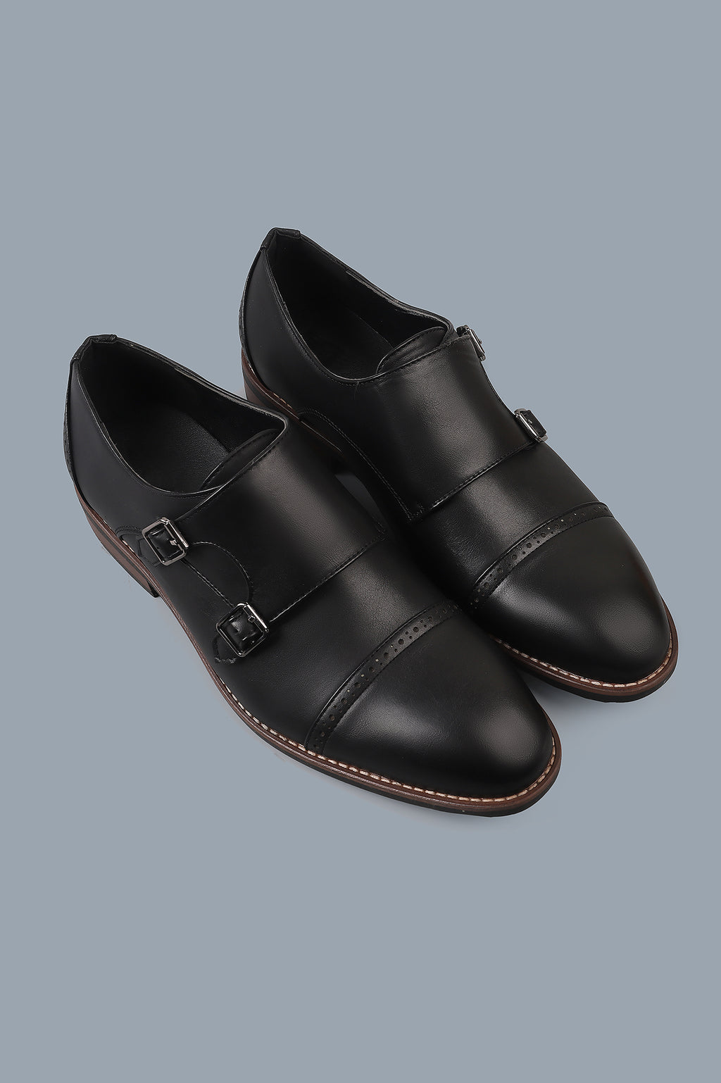 DOUBLE MONK SHOES-BLACK
