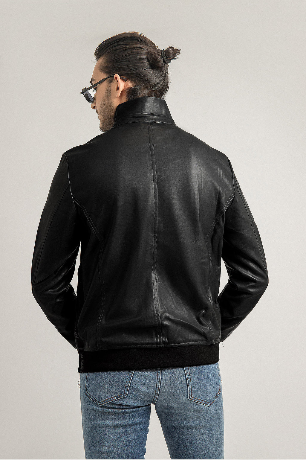 LEATHER JACKET-BLACK