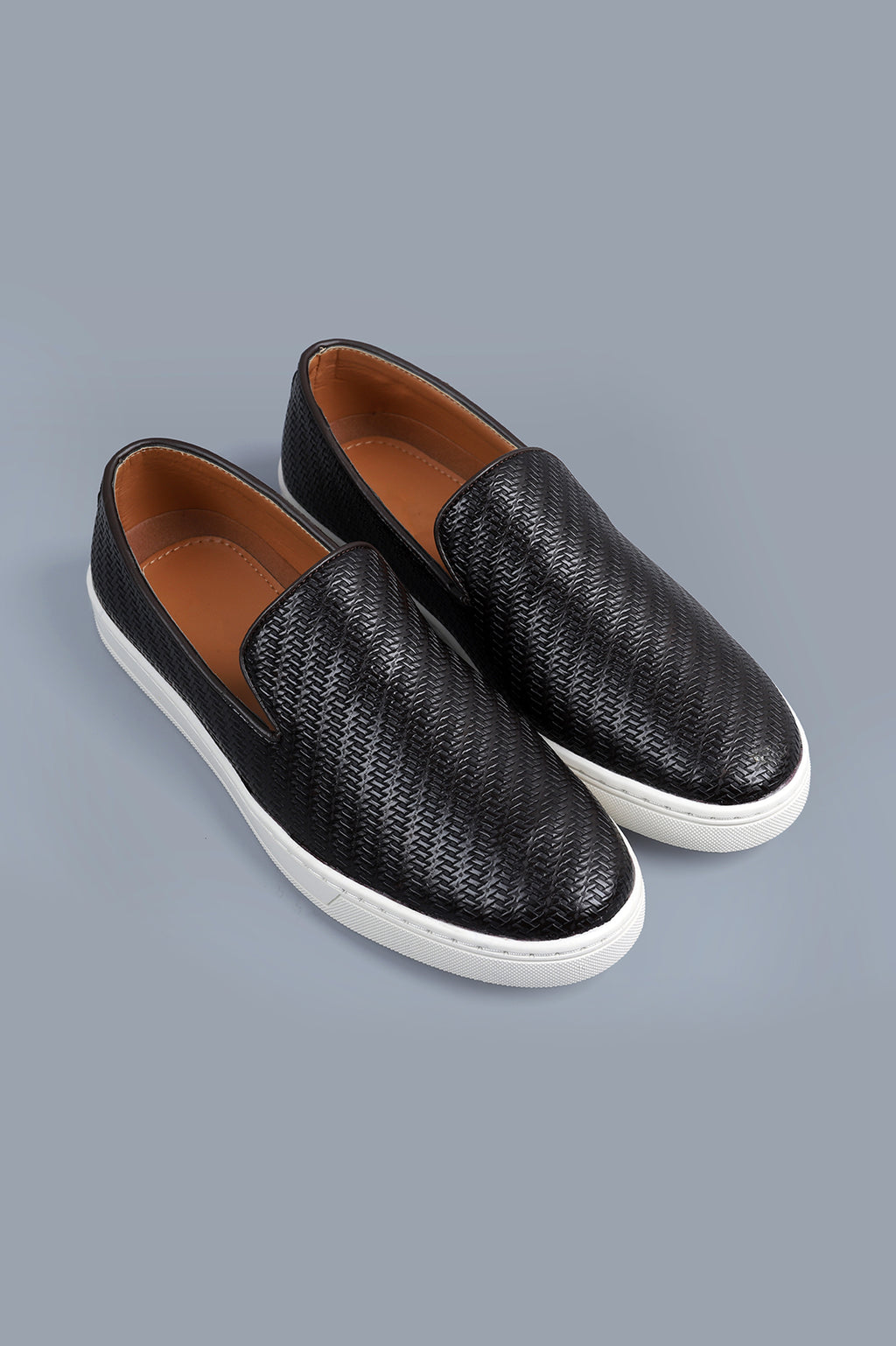 LEATHER SLIP ONS-COFFEE