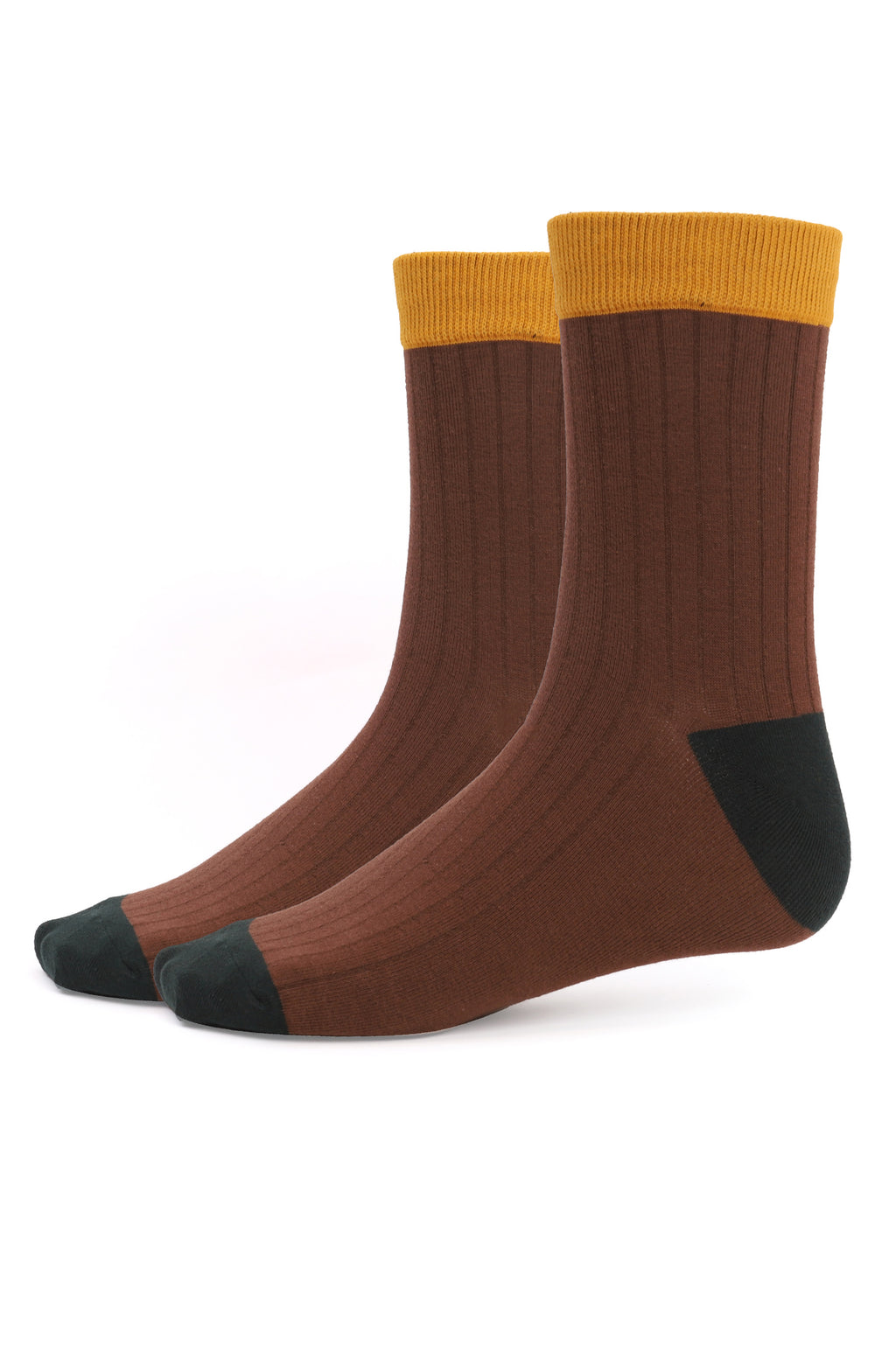 COMBO SOCKS-BROWN