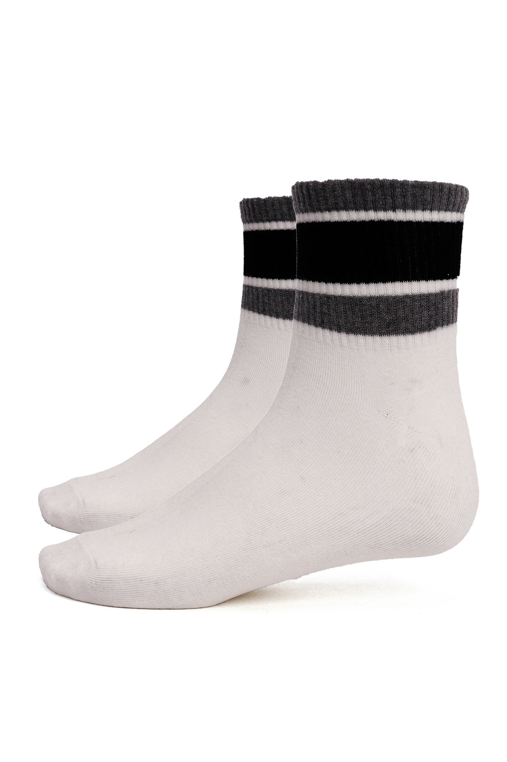 SPORTS SOCKS -WHITE-BLACK