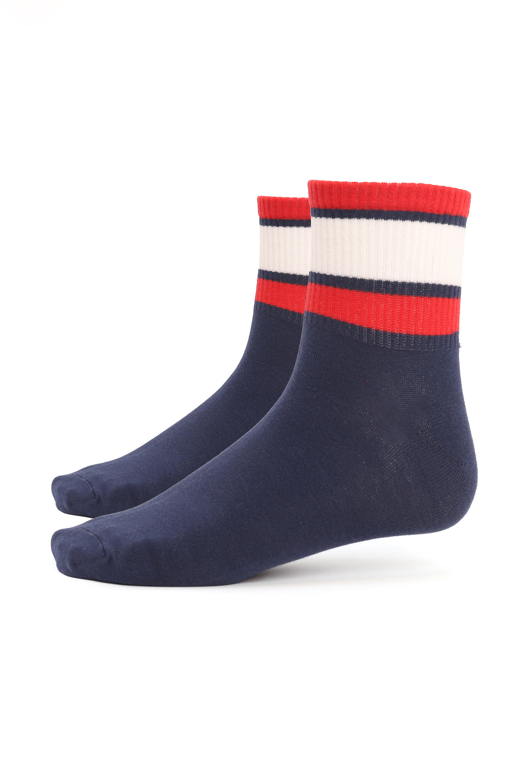SPORTS SOCKS -NAVY-WHITE