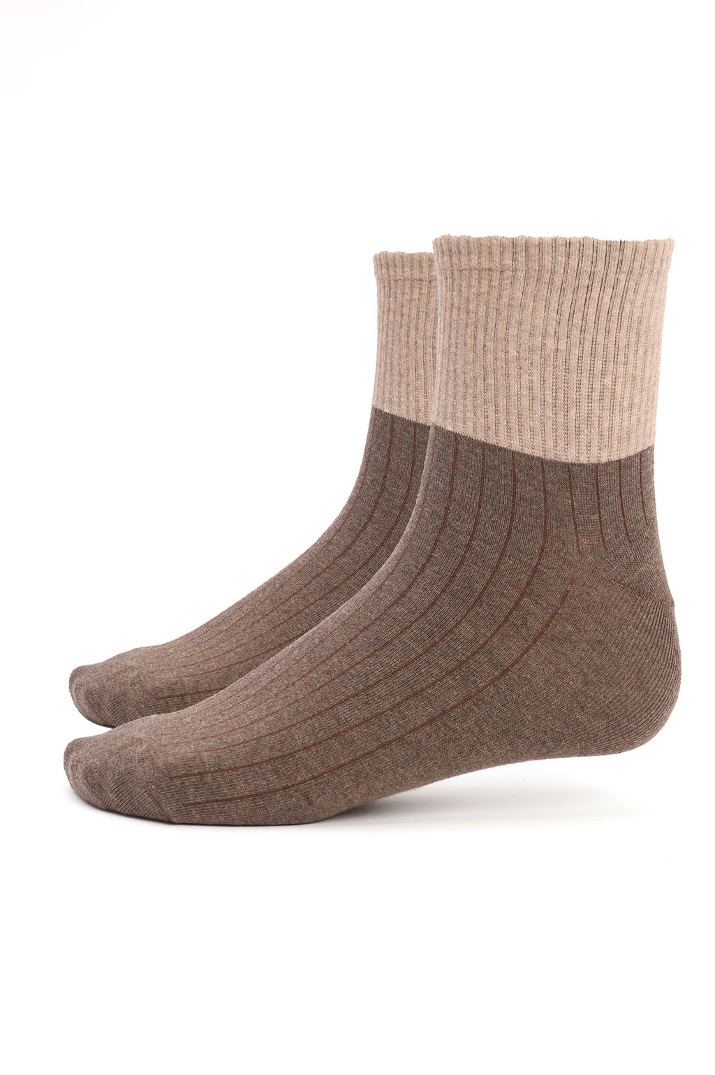 RIBBED SOCKS -BEIGE