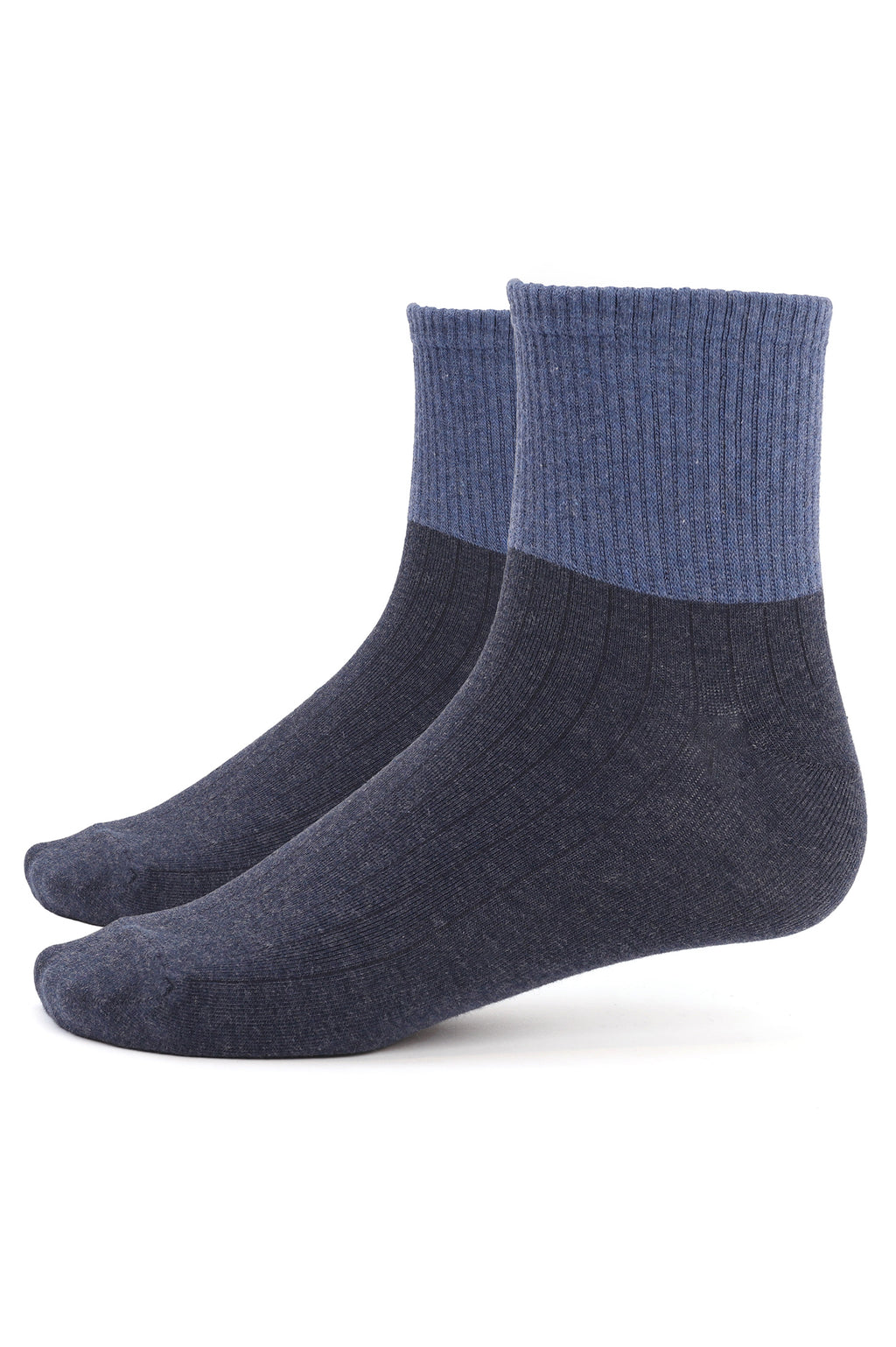 RIBBED SOCKS -NAVY