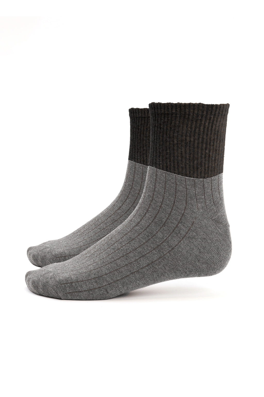 RIBBED SOCKS -GREY