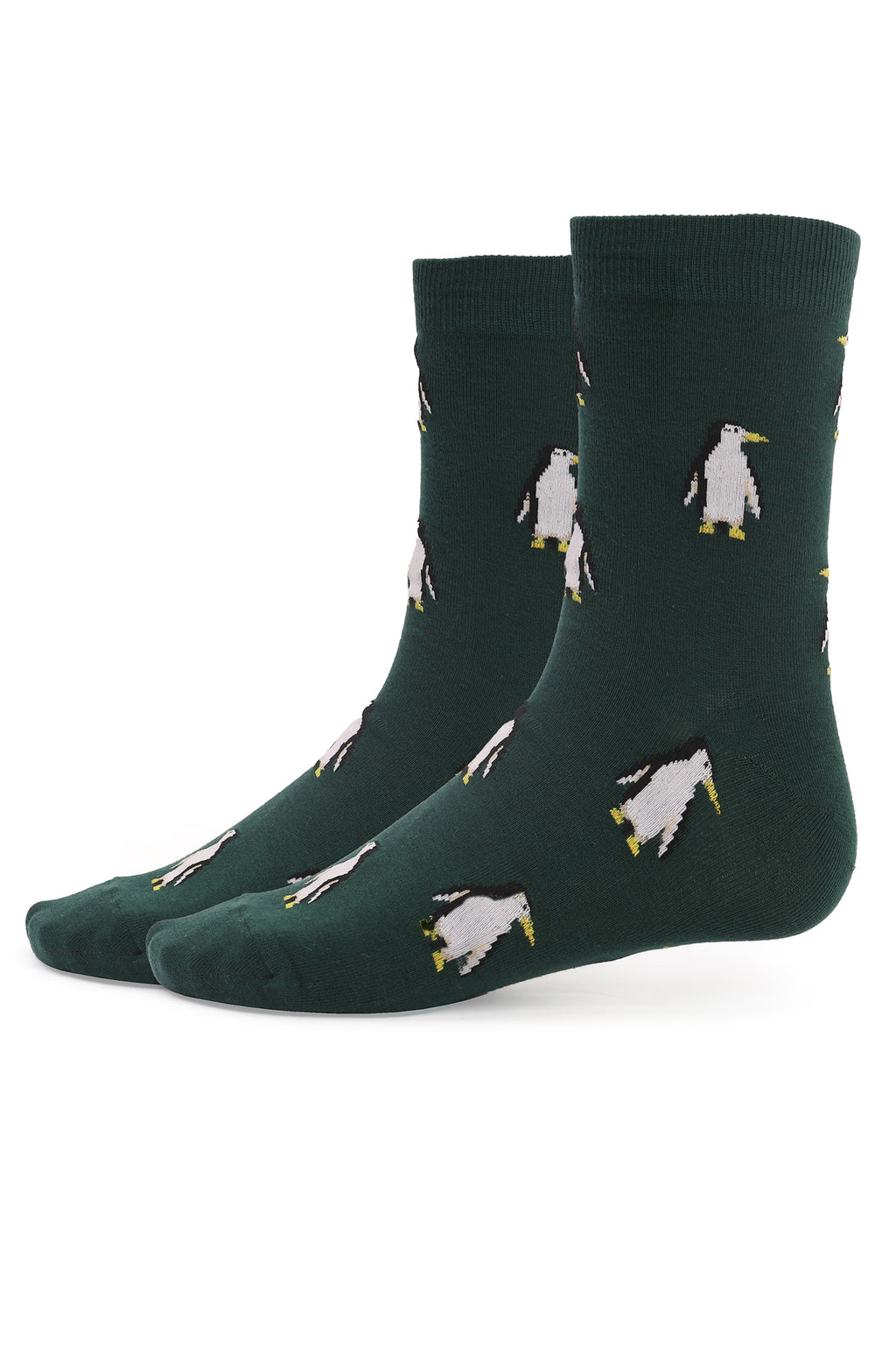 PENGUINE SOCKS-GREEN-WHITE