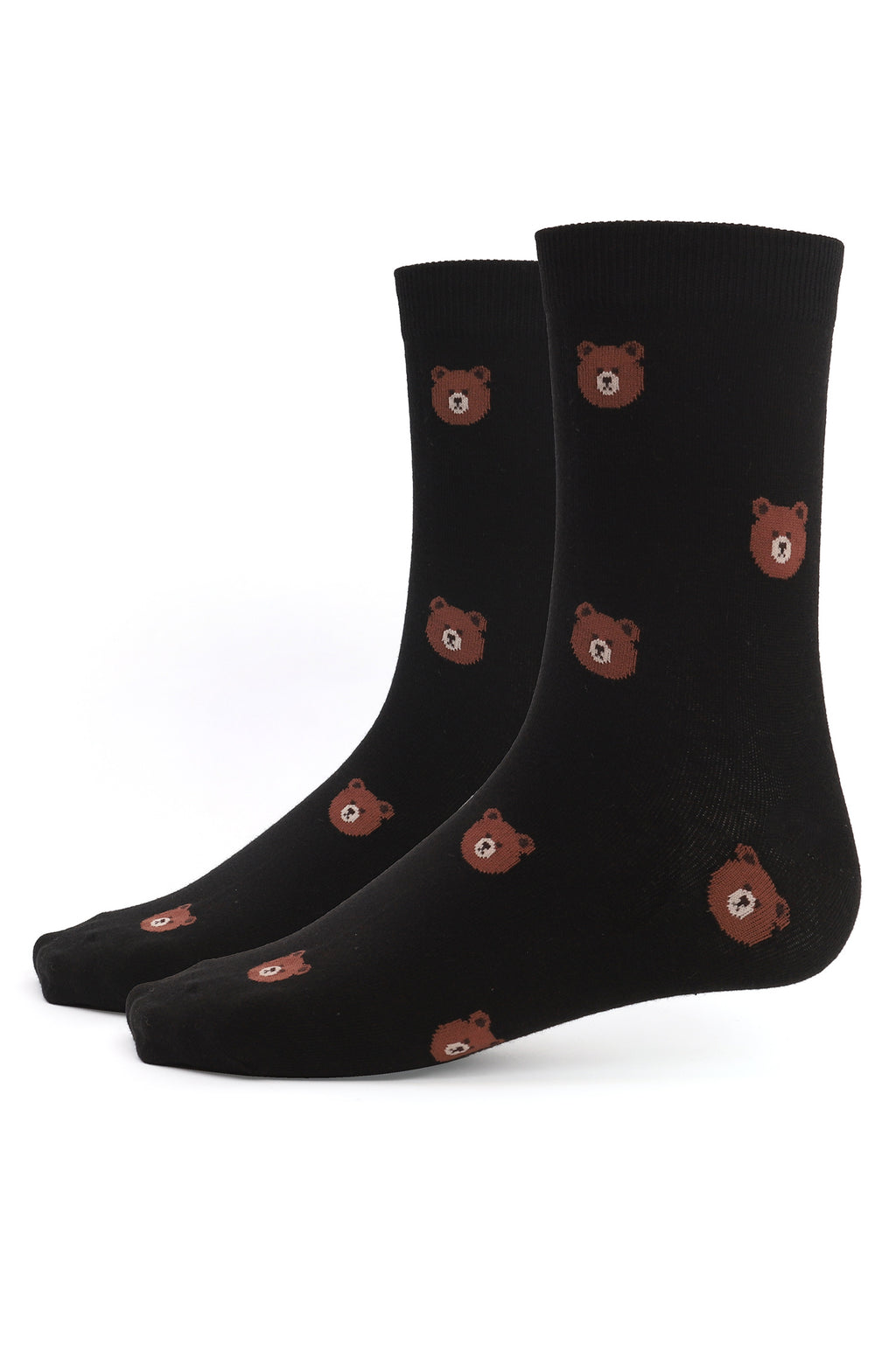 BEAR SOCKS-BLACK